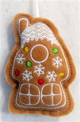 ITH Stuffed Ornament House embroidery design