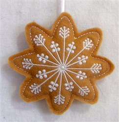 ITH Stuffed Ornament Snowflake embroidery design