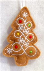 ITH Stuffed Ornament Tree embroidery design