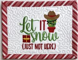 Christmas Cacti Mug Rug 3 embroidery design