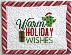 Christmas Cacti Mug Rug 5 embroidery design