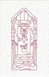 ITH Christmas Doors Quilt Blk with Bow embroidery design