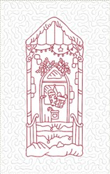 ITH Christmas Doors Quilt Blk with Presents embroidery design