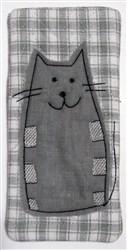 Chubby Cat Narrow Eyeglass Case embroidery design