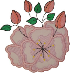Cherry Blossom Applique embroidery design