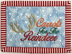 ITH Carrots for the Reindeer Mug Mat embroidery design
