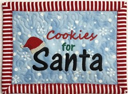 ITH Cookies for Santa Mug Mat embroidery design