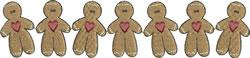 Gingerbread Men Border embroidery design