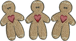 Gingerbread Men embroidery design