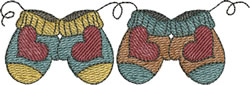 Small Heart Mittens embroidery design