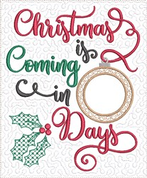Count Down to Christmas 1 embroidery design