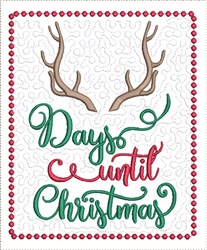 Count Down to Christmas 3 embroidery design