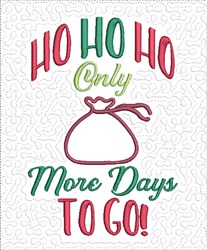 Count Down to Christmas 4 embroidery design