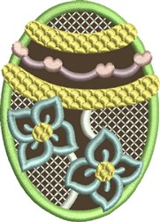 Chocolate Easter Egg 7 embroidery design
