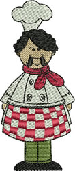 Chef Mario embroidery design
