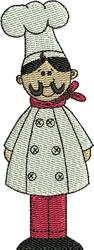 Chef Carlucio embroidery design