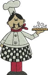 Chef Caesar embroidery design