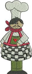 Chef Ettore embroidery design