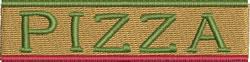 Pizza Logo embroidery design