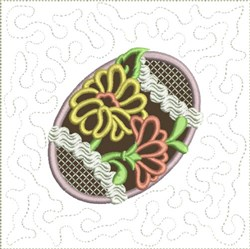 Chocolate Easter Egg Quilt Block 4 embroidery design
