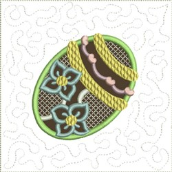 Chocolate Easter Egg Quilt Block 7 embroidery design