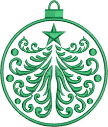 Green Ornament embroidery design