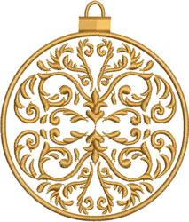 Dark Gold Ornament embroidery design