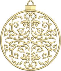 Medium Gold Ornament embroidery design