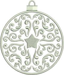 Silver Blue Ornament embroidery design