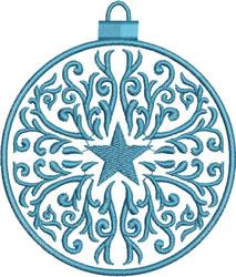Blue Star Ornament embroidery design