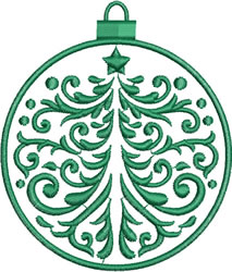 Medium Green Ornament embroidery design