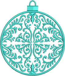 Turquoise Ornament embroidery design