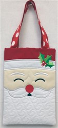 Santa Tote or Bag embroidery design