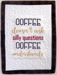 ITH Coffee Talk Mug Rug 5 embroidery design
