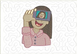 Cool Selfies Mug Mat 5 embroidery design