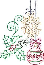 Redwork Christmas Ornaments embroidery design