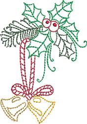 Redwork Christmas Bells embroidery design