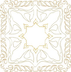 Desert Sun Single Run Quilt Block embroidery design