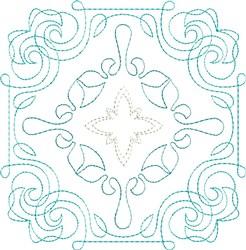 Wild Waves Single Run Quilt Block embroidery design