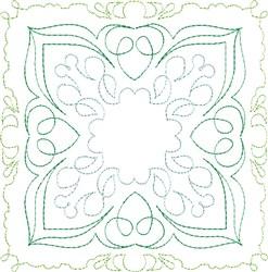 Irish Cream Single Run Quilt Block embroidery design