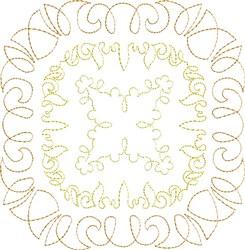 Maize Single Run Quilt Block embroidery design