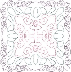 Crossover Single Run Quilt Block embroidery design
