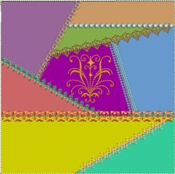 ITH Crazy Quilt Block Victorian embroidery design