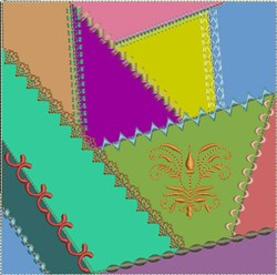 ITH Crazy Quilt Block Heritage embroidery design