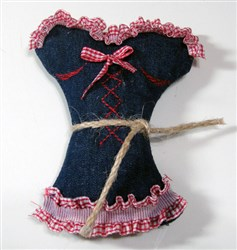 ITH Corset Sachet Bag embroidery design