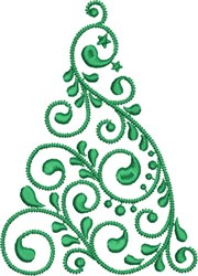 Christmas Tree Whirl embroidery design