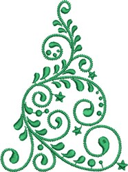 Graceful Christmas Tree embroidery design
