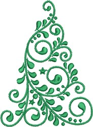 Flowing Christmas Tree embroidery design