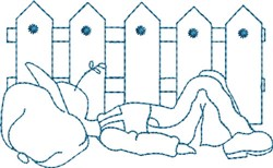 Country Blue Sam embroidery design