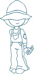 Courting Blue Sam embroidery design